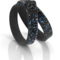 Mercedes Benz, Damenarmband, Black Edition